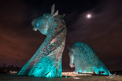 Rally Against It All (TVZ Photography) Tags: moon kelpies helix park sculpture art horses equine falkirk scotland architecture sky night evening lowlight longexposure sonya7riii sony 1635mm sel1635gm