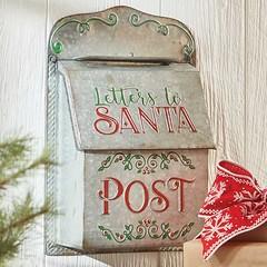 Galvanized Postbox (Heath & the B.L.T. boys) Tags: galvanized metal christmas mailbox
