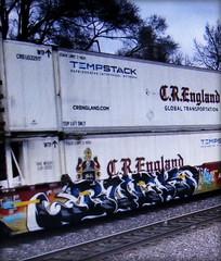 (timetomakethepasta) Tags: freight train graffiti art intermodal