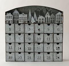 Galvanized Advent Calendar (Heath & the B.L.T. boys) Tags: galvanized metal christmas adventcalendar numbers