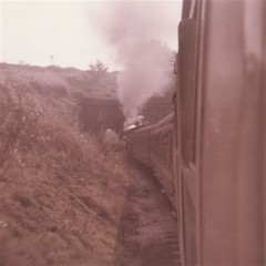 Keighley & Worth Valley Railway, 1975 (Pete 1957) Tags: kwvr train trains rail railway preserved steam engine loco yorkshire wd 280 1975 keighley worthvalley