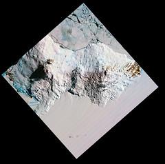 Mount Erebus, variant (sjrankin) Tags: 10december2019 edited nasa usgs jaxa terra aster antarctica volcano ice snow shadow mounterebus southernocean