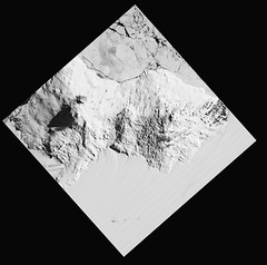 Mount Erebus, variant (sjrankin) Tags: 10december2019 edited nasa grayscale usgs jaxa terra aster antarctica volcano ice snow shadow mounterebus southernocean