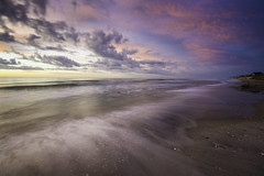 Peaceful, Easy Feeling (Longleaf.Photography) Tags: peace surfcity nc coast sea beach ocean sunrise waves motion blur