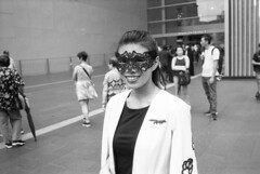 Foxy girl (A N O L O G I . M A L A Y A) Tags: carlzeiss3528f redfilter rodinal selfdeveloped keepfilmalive streetphotography street leicam6 leica bnw analogphotography analog filmisnotdead filmphotography film
