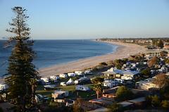 DSC_0965 Brighton Caravan Park from Tjilbruke Monument, Kingston Park, South Australia (JohnJennings995) Tags: brightoncaravanpark kingstonpark coast southaustralia australia