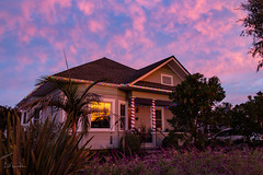 Epic Sunrise Glow (Lisa Roeder) Tags: sunrise christmaslights holidayhome
