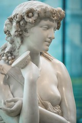 Grapes of Wrath (BenBuildsLego) Tags: jeanbaptiste clesinger cleveland museum art ohio marble sculpture statue escultura skulptur nude bacchante female figurative artist flower flowers wine goblet cup telephoto sony a6000 breast breasts classical neoclassical roman greek myth mythology mythological nymph