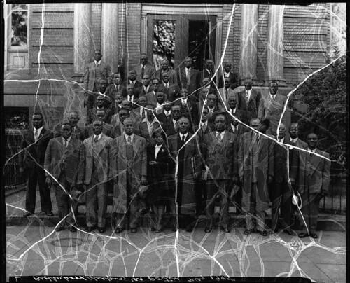 D.C. Sleeping Car Porters in front of the 12th St. YMCA: 1945