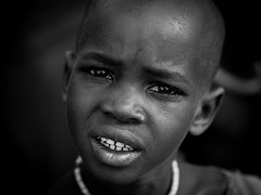 Boy of Himba Tribe (gunnisal) Tags: africa portrait ovahimba himba boy eyes face bw blackandwhite monochrome gunnisal namibia tribe