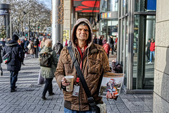 THE OUTSIDER (NorbertPeter) Tags: man street people cologne köln germany portrait spontaneous outdoor city urban streetphotography streetportrait sony ilce7 poverty homeless outsider newspaper