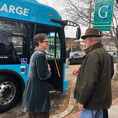 KAT unveils new EV Buses (TNCleanFuels) Tags: city knoxville area transit tennessee kat mayor madelyn rogero electric mass bus buses ev pev new flyer