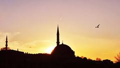 clear sunset (Harry Szpilmann) Tags: istanbul sunset mosque turkey architecture islam streetphotography