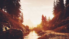 rise and shine (nuvoIari) Tags: montana forest trees sunrise videogame farcry5