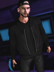 ☠ BITTER SWEET SYMPHONY - THE VERVE (Shock Q'Kell) Tags: secondlife sl lelutka head guy signature body gianni bento mesh andore ears equal10 event straydog tmd skin joffrey uniwaii jacket bomber flite cap snapback hair thebeardedguy backdrop vanity vanityevent rozoregalia rings volkstone beard facialhair eye brows eyebros bloggers slbloggers male men man boy style fashion mainstore store photo slphoto moda slmoda