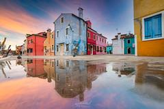 Colourful II Burano - Italy (CK NG (choookia)) Tags: colourful burano italy oldtown reflection streetphotography