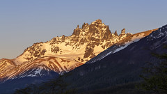 Sunrise at Cerro Castillo (tmeallen) Tags: sunrise cerrocastillo clear sky snowcovered mountain jaggedpeak glacier travel remotearea aysen patagonia chile miradorcerrocastillo