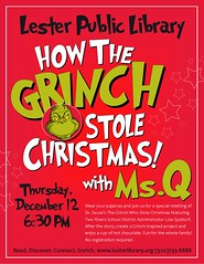 Grinch (Lester Public Library) Tags: 365libs msq tworiverswisconsin tworivers tworiversschooldistrict grinch christmas holiday holidayevent howthegrinchstolechristmas storytime lesterpubliclibrary librariesandlibrarians lpl library lesterpubliclibrarytworiverswisconsin libraries libslibs libraryprogram libraryprograms publiclibrary publiclibraries wisconsinlibraries readdiscoverconnectenrich