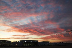 airport sunrise (GeorgeM757) Tags: sunrise color nature clevelandhopkins georgem757 canon clouds