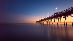 bi pier 2019 le (kyleforemanphoto) Tags: longexposure ocean sea seascape seascapephotography oceanscape landscape landscapephotography water waterfront pier boardwalk minimalist minimalism colors sunrise sunset light sky bluehour travel beauty northcarolina art fineart destinations coast outdoors nature