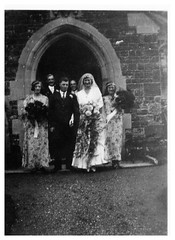 VINTAGE . WEDDING (JOHN MORGANs OLD PHOTOS.) Tags: vintage found photo uk unusual unitedkingdom unknown unique interesting different wedding vintagephoto bw