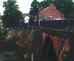 Crossing (Clive Varley) Tags: handbridge chester cheshire archive bridges riverdee