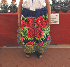 Purepecha Apron Ocumicho Mexico Textiles (Teyacapan) Tags: purepecha embroidery textiles delantal aprons flowers clothing ropa ocumicho