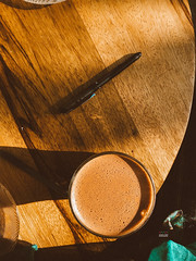 Warm Cup (amuna_caty) Tags: canon color colors cup chocolate coffee coffeecup drink photo photography photograph photographer picture nice table topview vintage view