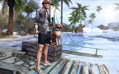 Water, sun and nature... (ThiegoFire) Tags: rezzroom chucksize dog realevil sun light water fun cute fashion sl secondlife male men man boy guy exclusive equal10 re versov new malamanhadosl blog blogger fresh photo photography ginger redhead