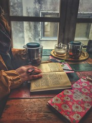 alone (amuna_caty) Tags: photo photography photograph photographer picture past pic nice side beautiful book books warm winter wood tea teatime table canon color colors cup coffee coffeecup cups calm