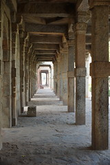 Columns and Corridor (steve_whitmarsh (catching up after India)) Tags: city urban building architecture india delhi qutbminar