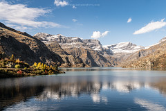 But (Fabrice Le Coq) Tags: vert emosson valais suisse paysage la landscape montagne mountains sky ciel clouds nuages hiking running lac lake