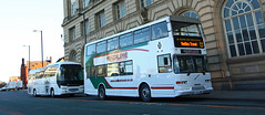 UK - Preston bus & coach (onewayticket) Tags: bus transport urban redline avacoach volvo b10m50citybus volvob10m50citybus eastlancs pyoneer eastlancspyoneer neoplan tourlinereuro6 neoplantourlinereuro6 yil6982 f10ava