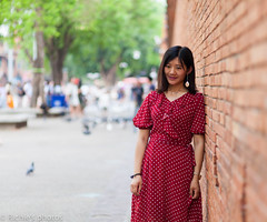 Portrait (Richie photos) Tags: portrait wall thailand chiangmai canon girl