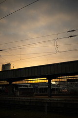 Dortmund_Hbf_Fernweh (williespictures) Tags: sunrise railwaystation journey germany dortmund