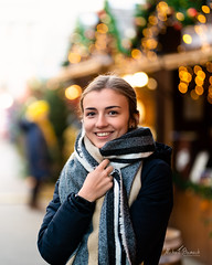 Weronika (Michał Banach) Tags: nikond850 poland poznań tamronsp85mmf18divcusd weronika beautiful beauty christmas december female girl polishgirl portrait portret scarf smile winter woman greaterpolandvoivodeship