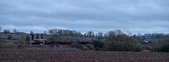 Diverted freight (Peter Leigh50) Tags: ews db cargo shed steel train trees track wistow winter dark weather railway railroad rail rural fujifilm fuji field farmland freight farm xt2 leicestershire
