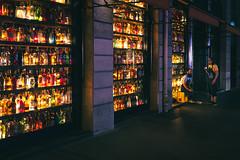 Bottles Bar (Mechanized) Tags: people bar urban city street x100f night lights paris sidewalk