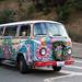 Hippie Van on Lombard Street -  San Francisco, California