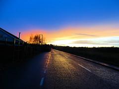 SUNSET  CLOUDS BLUE SKY (Monkiiiey Henry Clark) Tags: sunset clouds blue sky