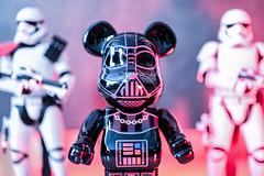 Be@rBrick Vader (gstening) Tags: bearbrick chrome darthvader vader hottoys firstorderstormtrooper stormtrooper z6 nikon primelens 50mm nikkorz 18 bokeh toys toy design hue phillips