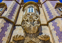 Pena Palace - Sintra, Portugal (mikederrico69) Tags: castle palace statue sintra portugal architecture pena gothic romanticism moorish heritage site historic history colors colorful decoration