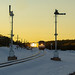 Late Trains Early Sunset