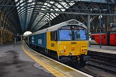 66789 t&t 66786 - London Kings Cross - 30/11/19. (TRphotography04) Tags: br large logo gb railfreightgbrf 66789 british rail 1948 1997 is seen london kings cross gbrf abp staff railtour 1z43 0843 doncaster hull 47739 66786