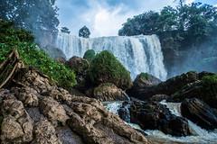 Waterfall - Vietnam (K.ou.Ba) Tags: vietnam da lat water waterfall fall rock rocks rain blue green sky river sun