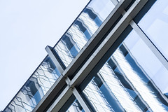 (jfre81) Tags: chicago gold coast architecture abstract michigan avenue magnificent mag mile diagonal geometry line reflection texture minimalist white 312 windy second city urban james fremont photography jfre81 canon rebel xs eos onblue