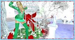 Style Freedom Karnatose Designs (Karmandi Caeran SL Owner Of Karmatose Designs) Tags: karmatosedesigns green dress top bottom skirt blouse silk sheer soft inside outside dance play games ice cold christmas xmas merry santa flow satin