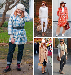 5 Ways to Wear a Cream, Chunky Roll Neck Sweater | Not Dressed As Lamb, Over 40 Fashion and Style (Not Dressed As Lamb) Tags: winter fashion style 80s checks checked plaid bold ootd outfit blogger