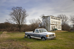American Pastoral (crabsandbeer (Kevin Moore)) Tags: landscape decay rural ruraldecay oldhouse house truck junk country winter abandoned maryland easternshore chestertown galena ceciltown kennedyville noroof