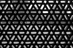 Patterned Window (steve_whitmarsh (catching up after India)) Tags: city urban building architecture india delhi window blackandwhite bw monochrome qutbminar